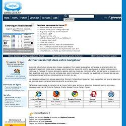 Comment activer ou désactiver Javascript dans les options de votre navigateur - Portail francophone d'informatique