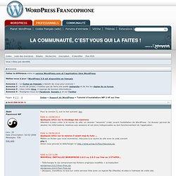 Tutoriel d'installation WP 2 VF sur free