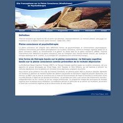 Site Francophone sur la Pleine Conscience (Mindfulness) en Psychothérapie