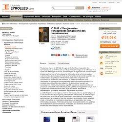 Livre IC 2010 - 21es journées francophones d'ingénierie des connaissances - S. Desprès, M. Crampes