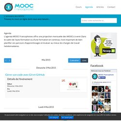 L'agenda des MOOC Francophones