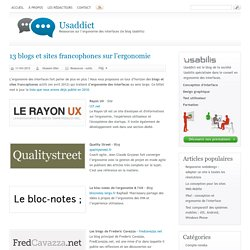 13 blogs et sites francophones sur l'ergonomie