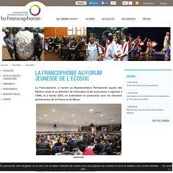 La Francophonie au Forum Jeunesse de l'ECOSOC