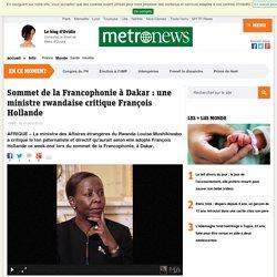 Sommet de la Francophonie à Dakar : la ministre rwandaise Louise Mushikiwabo critique François Hollande