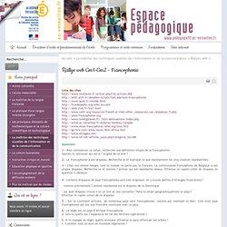 Rallye web Cm1-Cm2 - Francophonie
