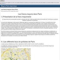 Les francs-maçons dans Paris - Blog du Paris maçonnique