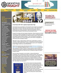 Frank Sheed: Author's Page at Ignatius Insight