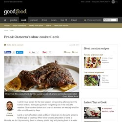 Frank Camorra's slow-cooked lamb