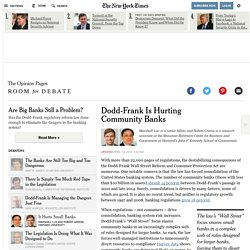 Dodd-Frank Is Hurting Community Banks