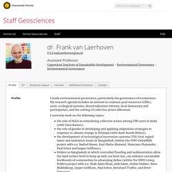 dr. Frank van Laerhoven - Geosciences