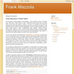 Frank Mazzola Is A Multi-Talent