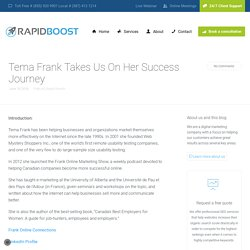 Tema Frank Takes Us On Her Success Journey