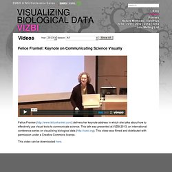 Video - Felice Frankel: Keynote on Communicating Science Visually