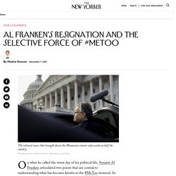 Al Franken's Resignation and the Selective Force of #MeToo