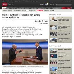 Blocher zur Frankenfreigabe: «Ich gehöre zu den Verlierern» - News - Schwei