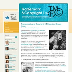 Frankenstein and Copyright: 5 Things You Should Know