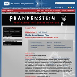 Frankenstein: Penetrating the Secrets of Nature - Middle School Lesson Plan