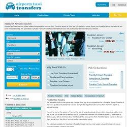 Frankfurt Airport Transfers - Airports Taxi Transfers