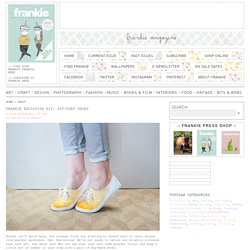 frankie exclusive diy: dip-dyed shoes