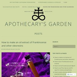 How to make an oil extract of Frankincense and other oleoresins – Apothecary's Garden