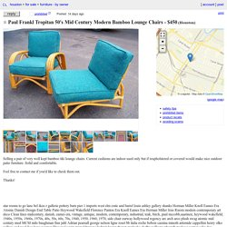 Paul Frankl Tropitan 50's Mid Century Modern Bamboo Lounge Chairs
