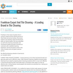 Franklean Carpet And Tile Cleaning - A Leading Brand in Tile Cleaning