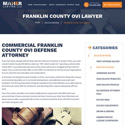 Franklin County OVI Attorney - Franklin County OVI Defense Lawyer