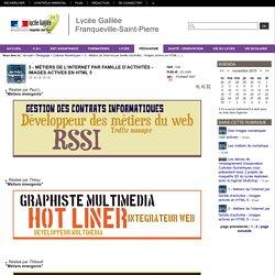 Lycée Galilée Franqueville-Saint-Pierre - 3 - Métiers de l'internet par famille d'activités - Images actives en HTML 5