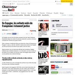 En Espagne, les enfants volés du franquisme réclament justice