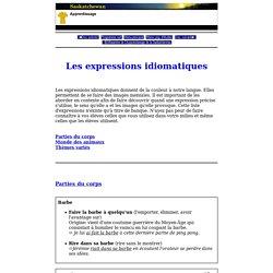 Français - Secondaire - Programmes d'études - Fransaskoises - Les expressions idiomatiques