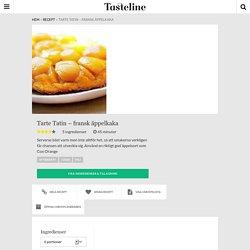 Tarte Tatin - fransk äppelkaka - Recept - Tasteline.com