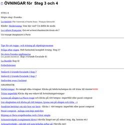 Franska hemsidan - Övningar för steg 3 och 4