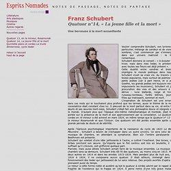 Franz Schubert,Quatuor n°14, « La jeune fille et la mort »