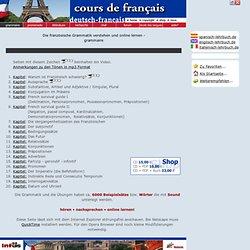 Französisch kostenlos lernen: online Lehrbuch - cours de français (Französischkurs)