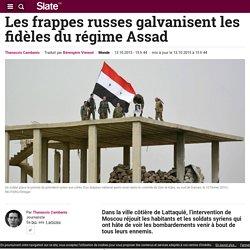 Les frappes russes galvanisent les fidèles du régime Assad