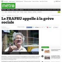Le FRAPRU appelle à la grève sociale