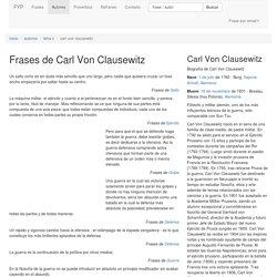 Frases de Carl Von Clausewitz - Página 2