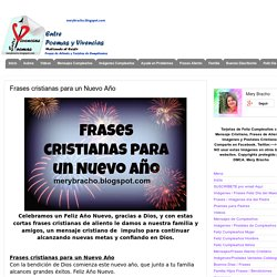 Frases cristianas para un Nuevo Año