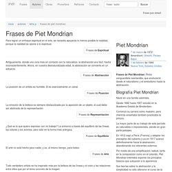 Frases de Piet Mondrian