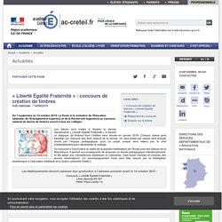 « Liberté Égalité Fraternité » : concours de création de timbres