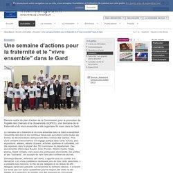 """Une semaine d'actions pour la fraternité et le """"vivre ensemble"""" dans le Gard / Dossiers / Actualités"""