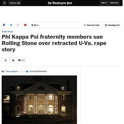 Phi Kappa Psi fraternity members sue Rolling Stone over retracted U-Va. rape story