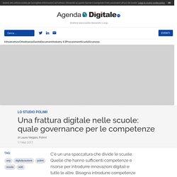 Una frattura digitale nelle scuole: quale governance per le competenze