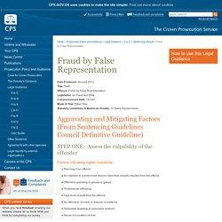 Fraud by False Representation