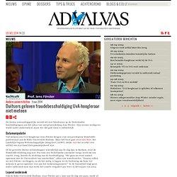Duitsers geloven fraudebeschuldiging UvA-hoogleraar niet meteen