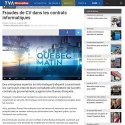 Fraudes de CV dans les contrats informatiques