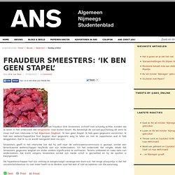 Fraudeur Smeesters: 'Ik ben geen Stapel'