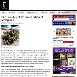 The Fraudulent Criminalization of Marijuana