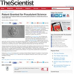Patent Granted for Fraudulent Science