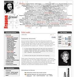 Frauen-Genial.de - Erfinderinnen: Estée Lauder